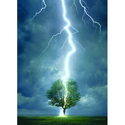 Puzzle Eurographics-6000-4570 Lightning striking a tree