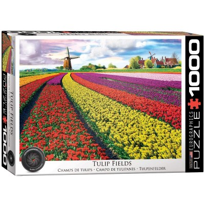Puzzle Eurographics-6000-5326 Tulip Fields Netherlands