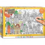 Puzzle  Eurographics-6033-0882 XXL Color Me - Town Houses