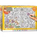 Puzzle  Eurographics-6033-0883 XXL Color Me - Hidden Butterflies