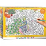 Puzzle  Eurographics-6033-0884 XXL Color Me - Majestic Feathers