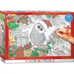 Puzzle  Eurographics-6033-0885 XXL Color Me - Holly Jolly Owl
