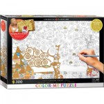 Puzzle  Eurographics-6033-0921 XXL Color Me - Gustav Klimt: The Tree of Life