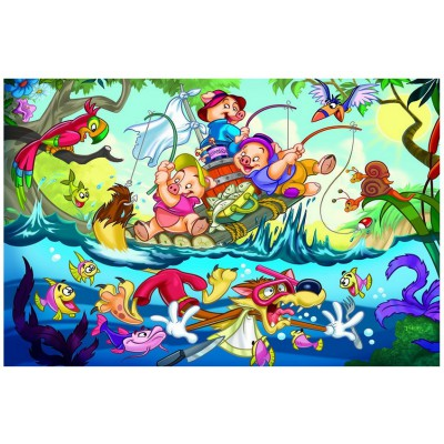 Puzzle Eurographics-6035-0423 The three little Pigs