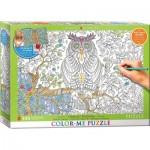 Puzzle  Eurographics-6055-0887 XXL Color Me - Owl