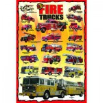 Puzzle  Eurographics-6100-0239 American Firefighter Trucks