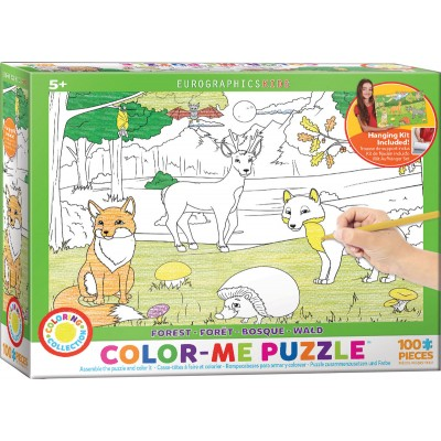 Eurographics-6111-0891 Color-Me Puzzle - Forest