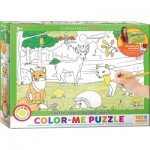 Eurographics-6111-0891 Color-Me Puzzle - Forest