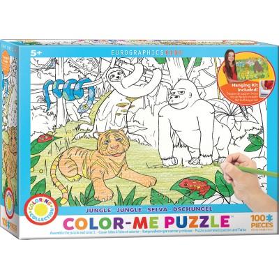 Puzzle Eurographics-6111-0892 Color Me - Jungle