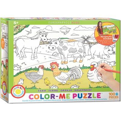 Puzzle Eurographics-6111-0893 Color Me - Farm