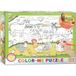 Puzzle  Eurographics-6111-0893 Color Me - Farm