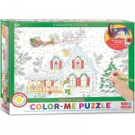 Puzzle  Eurographics-6111-0917 Color Me - Santa's Sleigh
