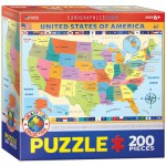 Puzzle  Eurographics-6200-0651 Map of the US