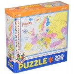 Puzzle  Eurographics-6200-5374 Map of Europe