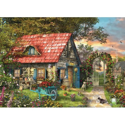 Eurographics-6500-0971 XXL Pieces - Family Puzzle: Dominic Davison - The Country Shed
