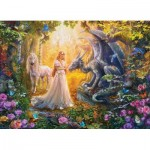 Puzzle  Eurographics-6500-5458 XXL Pieces - Princess' Garden