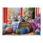 Puzzle  Eurographics-6500-5500 XXL Pieces - Knittin' Kittens