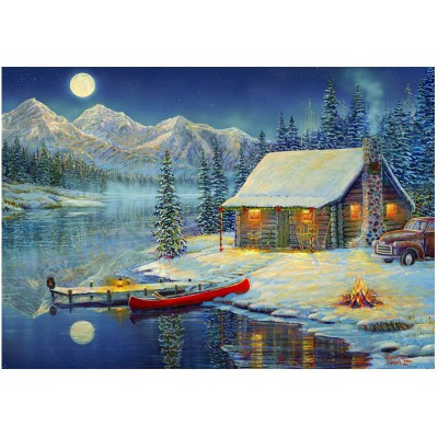 Puzzle Eurographics-8000-0608 Sam Timm: A Cozy Christmas