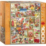 Puzzle  Eurographics-8000-0806 Flowers Seed Catalogue Collection
