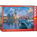 Puzzle  Eurographics-8000-0916 Dominic Davison - Christmas Eve in London