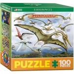 Eurographics-8104-0680 Mini Puzzle - Pterosaurs