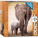 Puzzle  Eurographics-8300-0270 XXL Pieces - Elephant & Baby