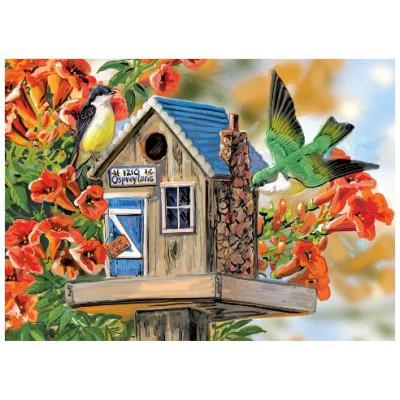 Puzzle Eurographics-8300-0602 Janine Grende: Trumpet Vines & Tree Sparrows
