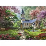 Eurographics-8300-0964 XXL Pieces - Familiy Puzzle: Dominic Davison - Blooming Garden