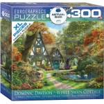 Eurographics-8300-0977 XXL Pieces - Familiy Puzzle: Dominic Davison - White Swan Cottage