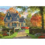 Eurographics-8300-0978 XXL Pieces - Familiy Puzzle: Dominic Davison - The Blue Country House
