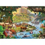 Eurographics-8300-0980 XXL Pieces - Familiy Puzzle: Steve Crisp - Noah's Ark Before the Rain