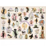 Eurographics-8300-0992 XXL Pieces - Familiy Puzzle: Yoga Puppies