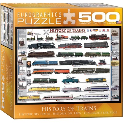 Puzzle Eurographics-8500-0251 History of Trains