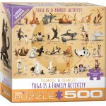 Puzzle  Eurographics-8500-5354 XXL Pieces - Yoga is A Family Activity