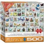 Puzzle  Eurographics-8500-5356 XXL Pieces - Vintage Stamps - Butterflies