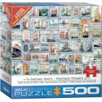 Puzzle  Eurographics-8500-5357 XXL Pieces - Sailing Ships - Vintage Stamps