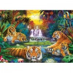 Puzzle  Eurographics-8500-5457 XXL Pieces - Tiger's Eden