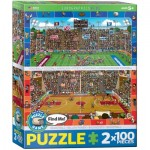 Eurographics-8902-0621 2 Puzzles - Find Me - Basketball & Football