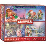 Eurographics-8904-0552 4 Jigsaw Puzzles - The Christmas Collection