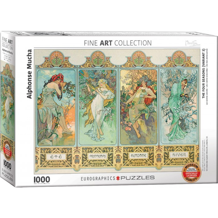 Mucha Alfons: Four Seasons Puzzle - 1000 pieces