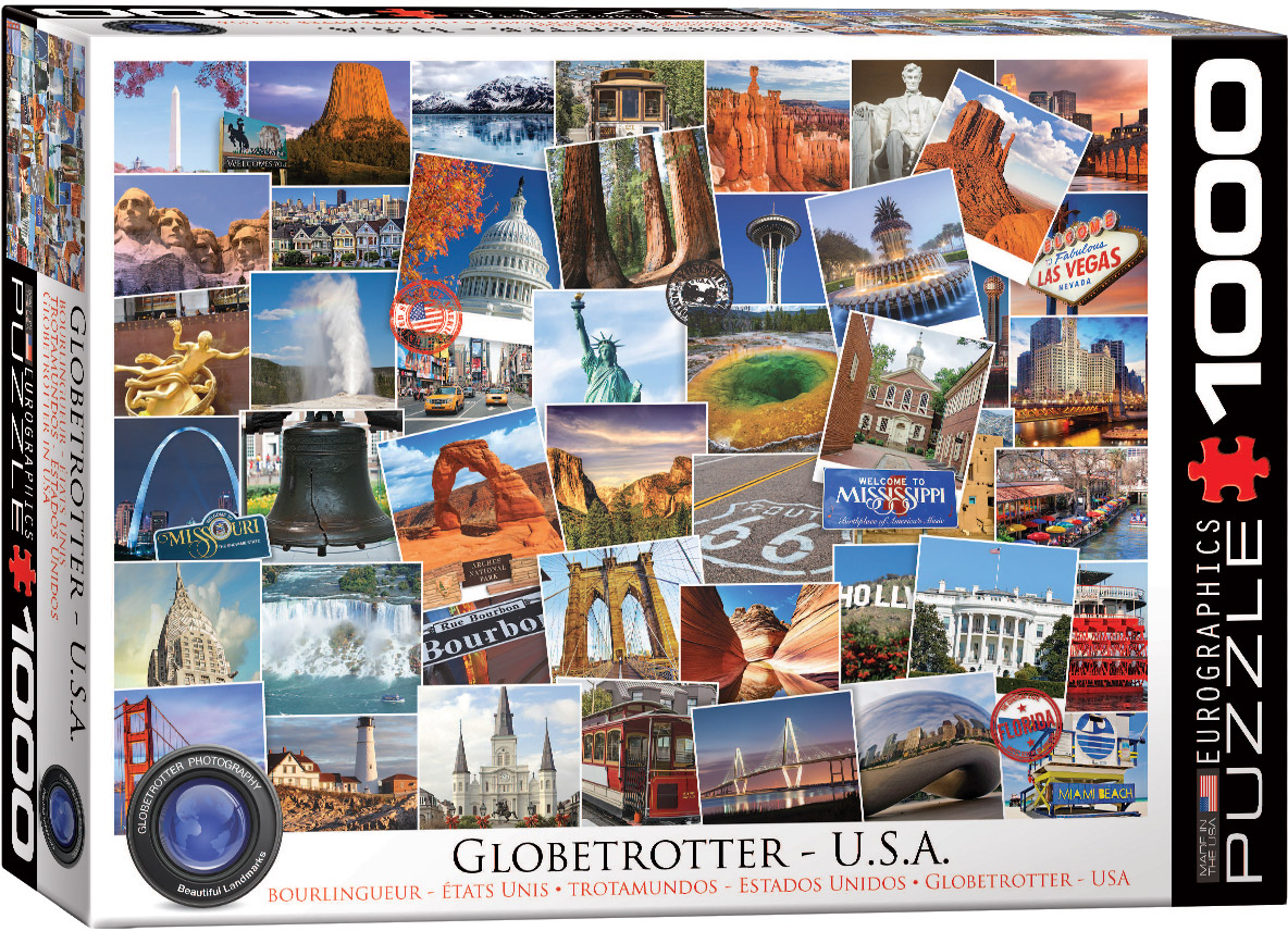 Globetrotter USA 1000 piece jigsaw puzzle