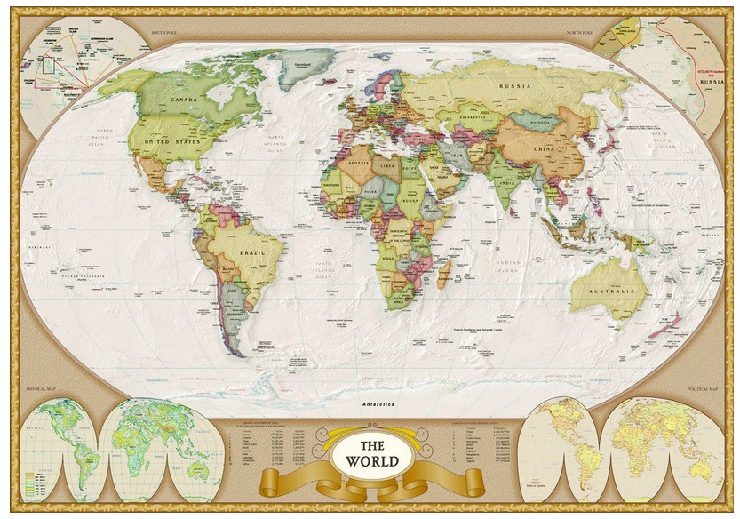 Modern Map Of The World.Jigsaw Puzzle 1000 Pieces Modern World Map