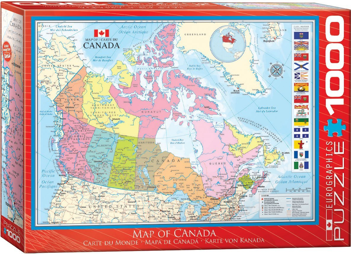 Puzzle Map of Canada Eurographics60000781 1000 pieces Jigsaw