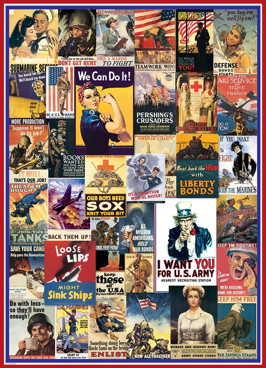 Puzzle World War I amp II Vintage Posters Eurographics 6000