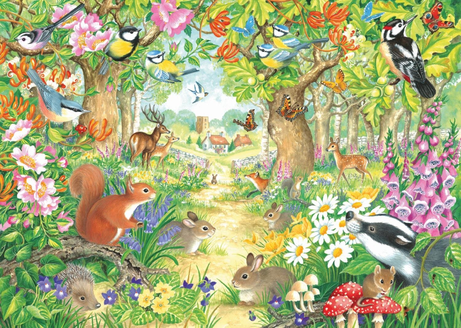 Puzzle A Woodland Trail Jumbo 11155 1000 Pieces Jigsaw