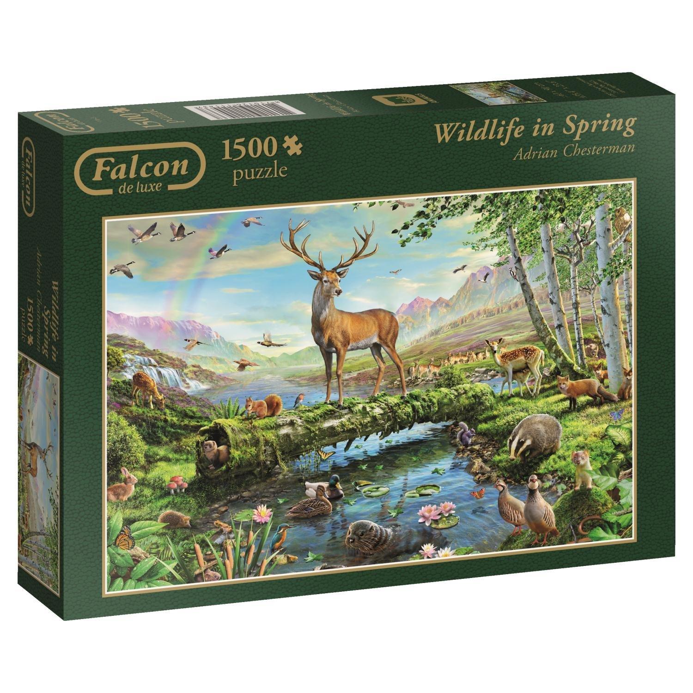 puzzle adrian chesterman wildlife in spring jumbo 11143. Black Bedroom Furniture Sets. Home Design Ideas