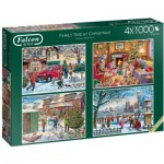 4 Puzzles - Family Time at Christmas