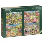 4 Puzzles - Gardens of All Seasons