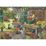 Puzzle   XXL Pieces - Nancy Wernersbach - Garden in Bloom