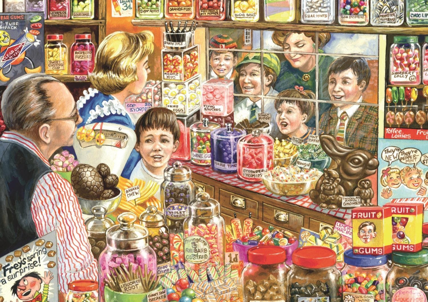 Puzzle Jim Mitchell The Little Sweet Shop Jumbo 11079